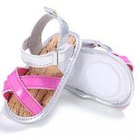 2017 Summer Flat Jelly Kids Girls Shoes Soft Pu Leather Beach Sandals Prewalker 0-18M