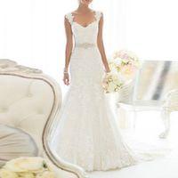 Edaier Lace Court Train Mermaid Wedding Dress
