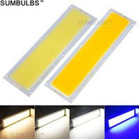 sumbulbs 120x36MM 10W COB LED Strip Bulb Lamp DC 12V 1000LM Blue Warm Natural