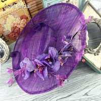 I DUI Bridal Floral Tulle Linen Purple Wedding Fine Garden
