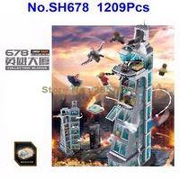 JOY-JOYTOWN SH678 1209pcs Upgraded Version Super Hero