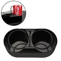 sikeo Multifuntional Water Beverage Mount Dual Hole Drink Bottle Cup Holder Stand Car