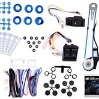 A-Premium Style Universal Power Window Kits Fit Any Vehicles With 2-Doors 12V come