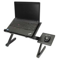 Portable Folding Laptop Notebook Table Desk Adjustable Laptop Stand Desk With Cooling Holes Mouse Board For Bed Sofa Tray New
