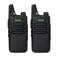 2Pcs/lot WLN KD-C1 UHF 400-470 MHz Black handheld transceiver cb radio mini radio walkie talkie