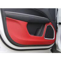 YAQUICKA For Jeep Compass 17 4PC/Set Carbon Fiber Car Inner Door Anti-Kick Pad