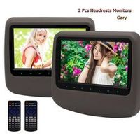 Eincar Car vehicle pillow Headrest Monitors Pair LCD Screen DVD Player