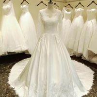 AMANDA NOVIAS Beading Pearls Button wedding dresses