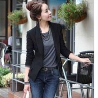 Liva girl Women Slim Casual Business Suit One Button Ladies