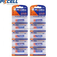 10pcs 5pcs/card*2 pkcell 27A 12v 27AE 27MN A27 Super Alkaline Battery for Doorbell