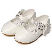 2017 Autumn Toddler White Shoes Ankle Strap Baby Party Shoes Walkers Wedding Baby Girl Shoes Fashion Fancy Princess Ballet Flats