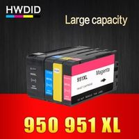 HWDID 4 Pack Ink Cartridge for HP 950 951xl Compatible for HP Officejet Pro 8600 8620
