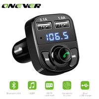 Onever 1Pcs Bluetooth Car Kit FM Transmitter MP3 Player With LED Dual USB Voltage