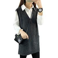 Liva girl Wool vest pullover 2016 women long clothing