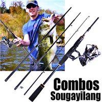 Sougayilang Fishing Rod Combos -Fuji O-ring Line Guides 24 Ton Carbon Fiber Pole Reel