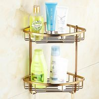 Bathroom Accessories,Antique Design Shower Shampoo&Toilet Storage Shelf /Aluminum Material Wall Mounted Fashion Bathroom Basket