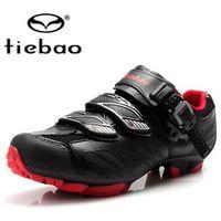 Tiebao Mountain Bike Shoes 2018 Professional MTB Nylon-fibreglass Sole Breathable Men
