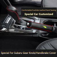 SeaForce Styling Hand Sewing Genuine Leather Car Handbrake Gear Knob Cover