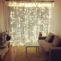 ANBLUB New Year 4.5M x 3M Outdoor Curtain Icicle LED String Lights 8 Modes Fairy