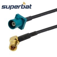 "Superbat Radio antenna Extension cable Fakra Male Plug ""Z"" SMB right angle pigtail"