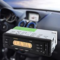 BYGD 1 Din 12V LCD Car In-dash Stereo Audio Player with Mute Memory Function FM Radio