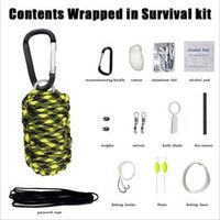 Outdoor first aid kit climbing portable home first aid kit field rescue box travel self - defense earthquake emergency package