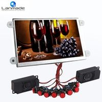 Lanmade Open frame with red plastic push button full hd digital signage