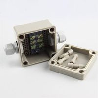 One in one out power cable wire Terminal Plastic Outdoor rain 86 waterproof junction box 86*84*60MM