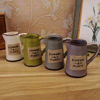 Flower pots planters Enamel home decoration natural hand