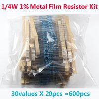 600 Pcs 30 Kinds Each Metal Film Resistor resistor assorted