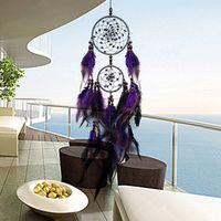 VKTECH Feather Crafts Purple Dream Catcher Wind Chimes