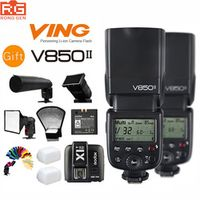 delivery 2x Godox V850II GN60 2.4G 1/8000s HSS Flash Speedlight for Nikon Cameras