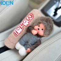 Loen Handy Cute doll Handbrake Grips case Handle cover pad Interior supplies Car