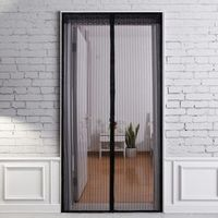 Anti Mosquito Door Curtains Summer Hands Free Magnetic Door Mesh Kitchen Curtain Anti  Insect Fly Bug Tulle Door Screen