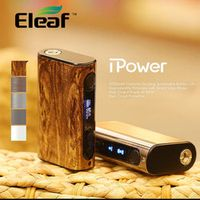 100% Original Eleaf iPower 80W MOD with 5000mah Built-in Battery Temperature Control Box Mod new firmware Smart mode Vaporizer