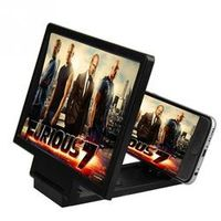 RV77 3D Phone Screen Magnifying HD Amplif with Foldable Holder Stand for iphone