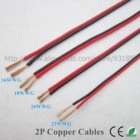 10m led 2 Pin Copper wire 22AWG 20AWG 18AWG 16AWG IEC RVB PVC insulated electrical cables LED strip extend UL2468 wire free ship