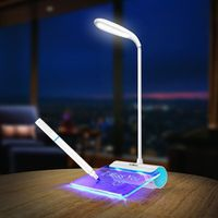 QACA Design Rechargeable Desk Lamp LED Light with Message Board Touch Switch Best