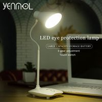 Yenmol Desk Lamps Desktops Lighting led Table Lamps with Clip Touch Switch Dimmable