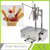 Free Shipping CE approved luxury 5L churros making machine with cutter with 25L deep fryer