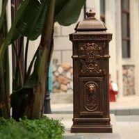 DesserXixi vertical Mailbox Postbox Mail Aluminium alloy