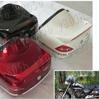 New Motorcycle Trunk Luggage Case Tail Box Backrest For Honda Shadow Spirit Sabre Aero ACE Steed VLX 400 600 1100 DLX VTX1300