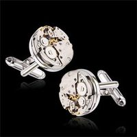 2017 One Pair Of High-end Imports Of Mechanical Watch Movement Tourbillon Cuff links French Cuff links Nail Sleeve Button CJ837