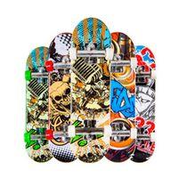 LAIMALA 1PC Random Color Creative Mini Finger Skateboard