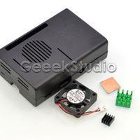 geeekpi Black Case Cover Enclosure Shell Box Aluminum Heat Sinks Heatsinks