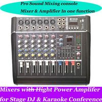 MICWL Pro 6 Channel Live Studio Audio Mixer Mixing Console 800W Power Amplifier