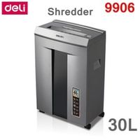 [ReadStar]Deli 9906 business type Electric paper shredder office 30L 220VAC 400W 16 pieces Infrared automatic paper feeding