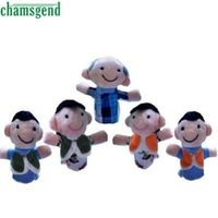 CHAMSGEND 5 Pcs Finger Even Storytelling Good Hand Puppet