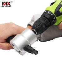 Nibble Metal Cutting Double Head Sheet Nibbler Saw Cutter Tool Drill Attachment Free Cutting Tool nibbler sheet metal Hand Tools
