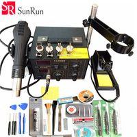 SAIKE 220V/110V 852D Hot Air Rework Station soldering station BGA De-Soldering 2 in